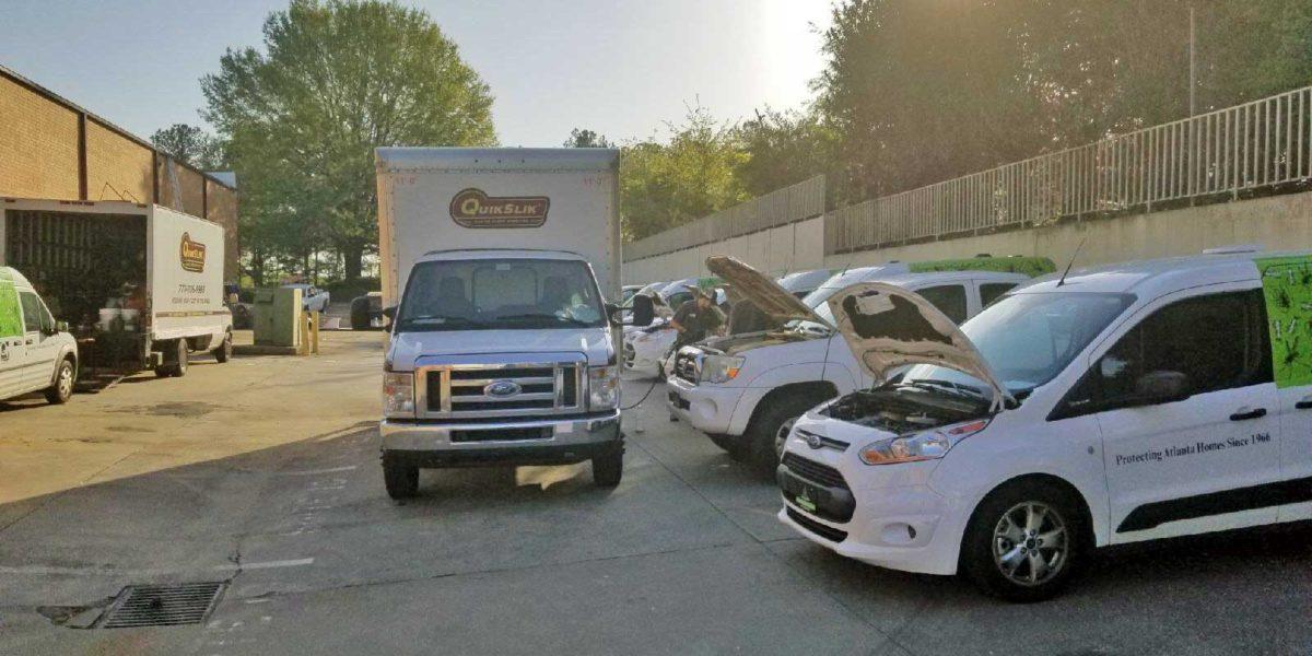 QuikSlik Mobile Service truck on site