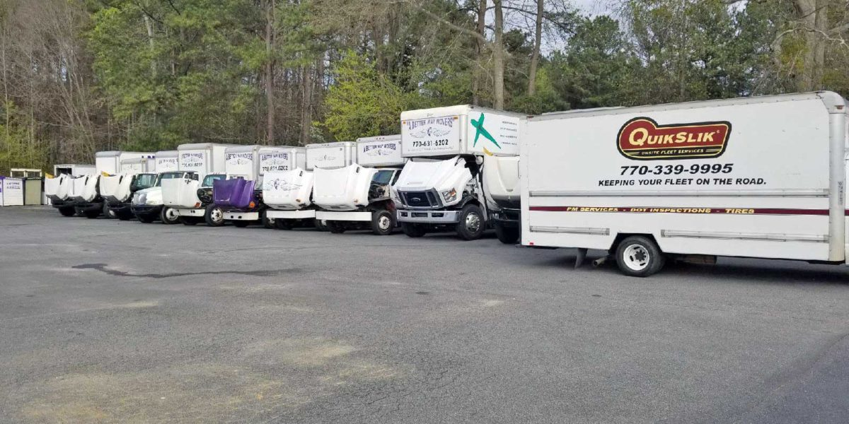 QuikSlik Mobile Service Truck with Large Fleet